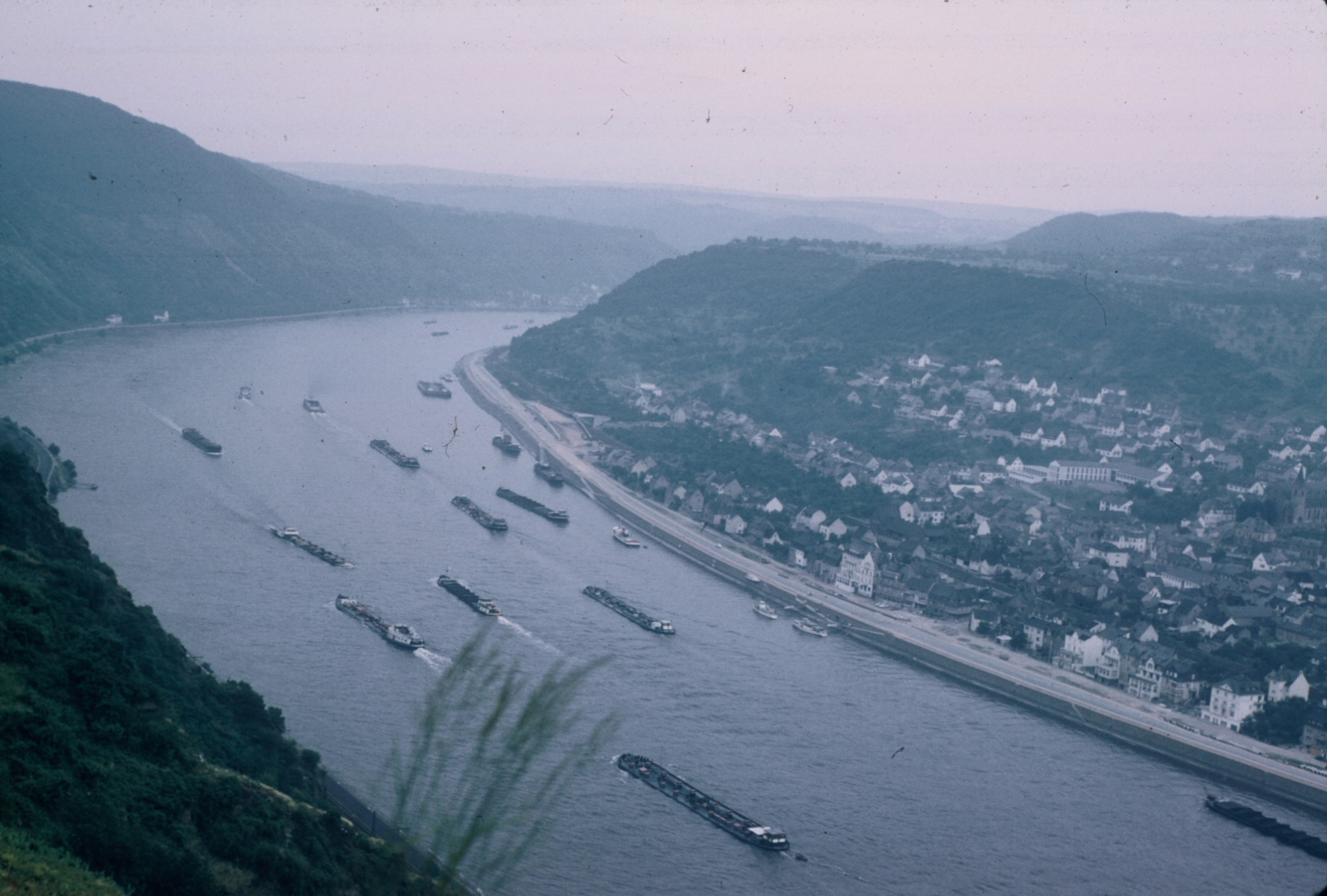 Barges on Rhine