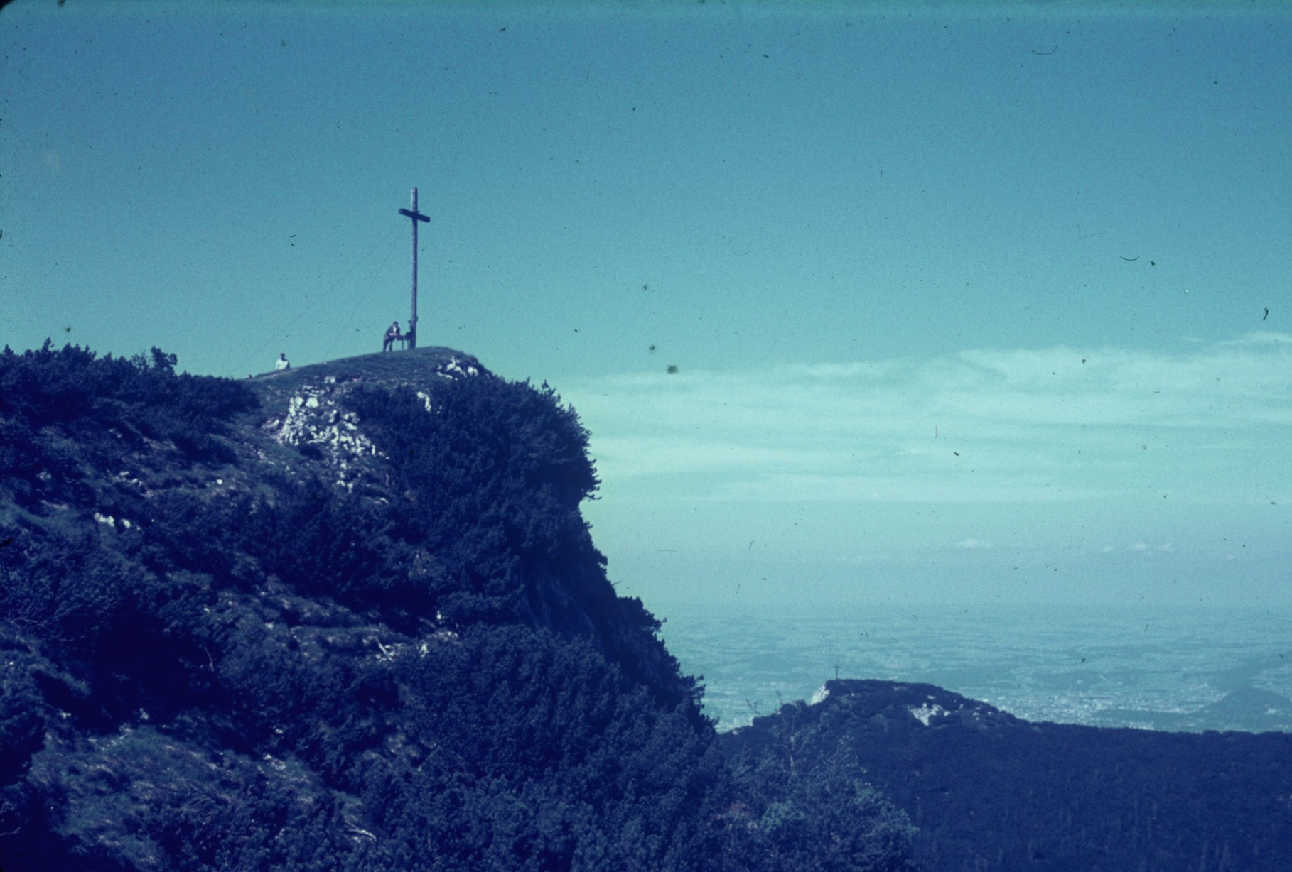 Cross on one of the peaks