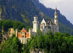 Neuschwanstein Castle from the base of the hill.