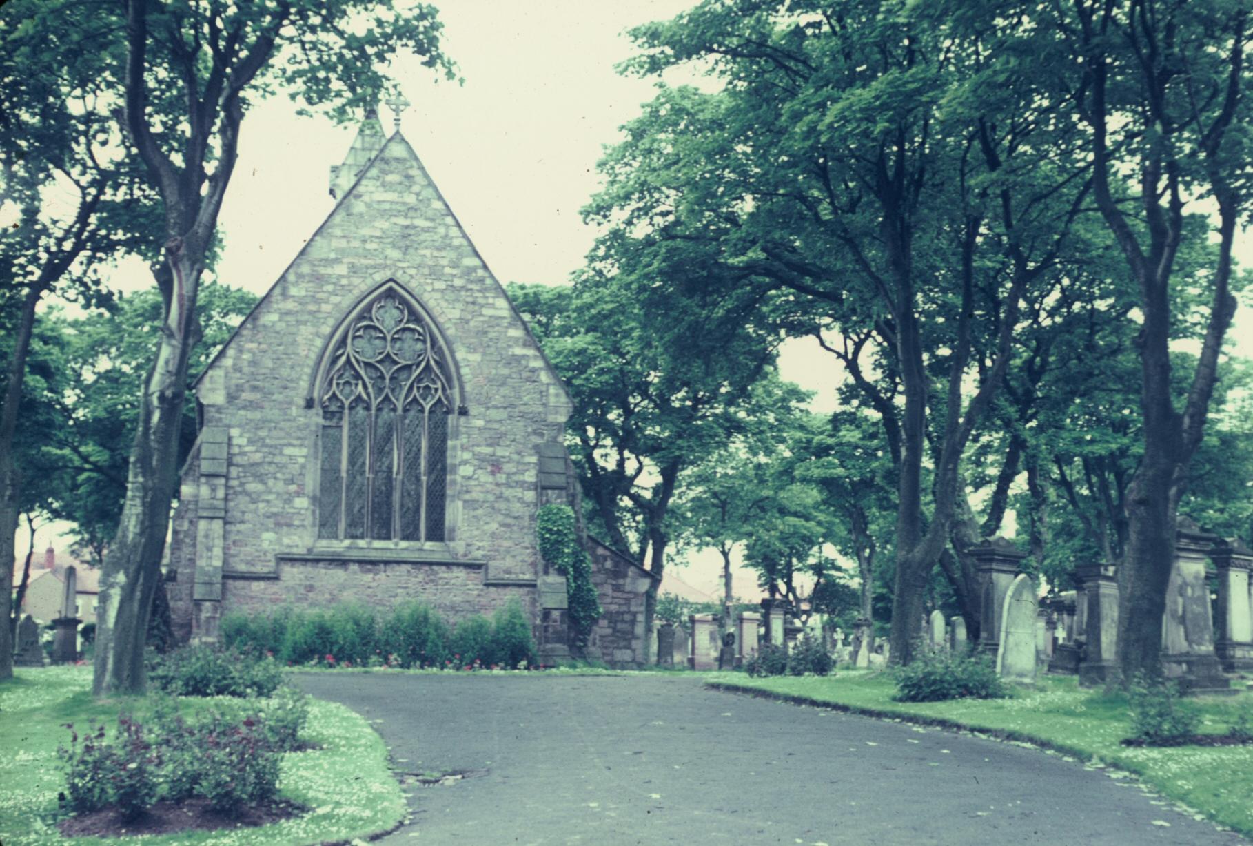 Church along road to Edinburgh