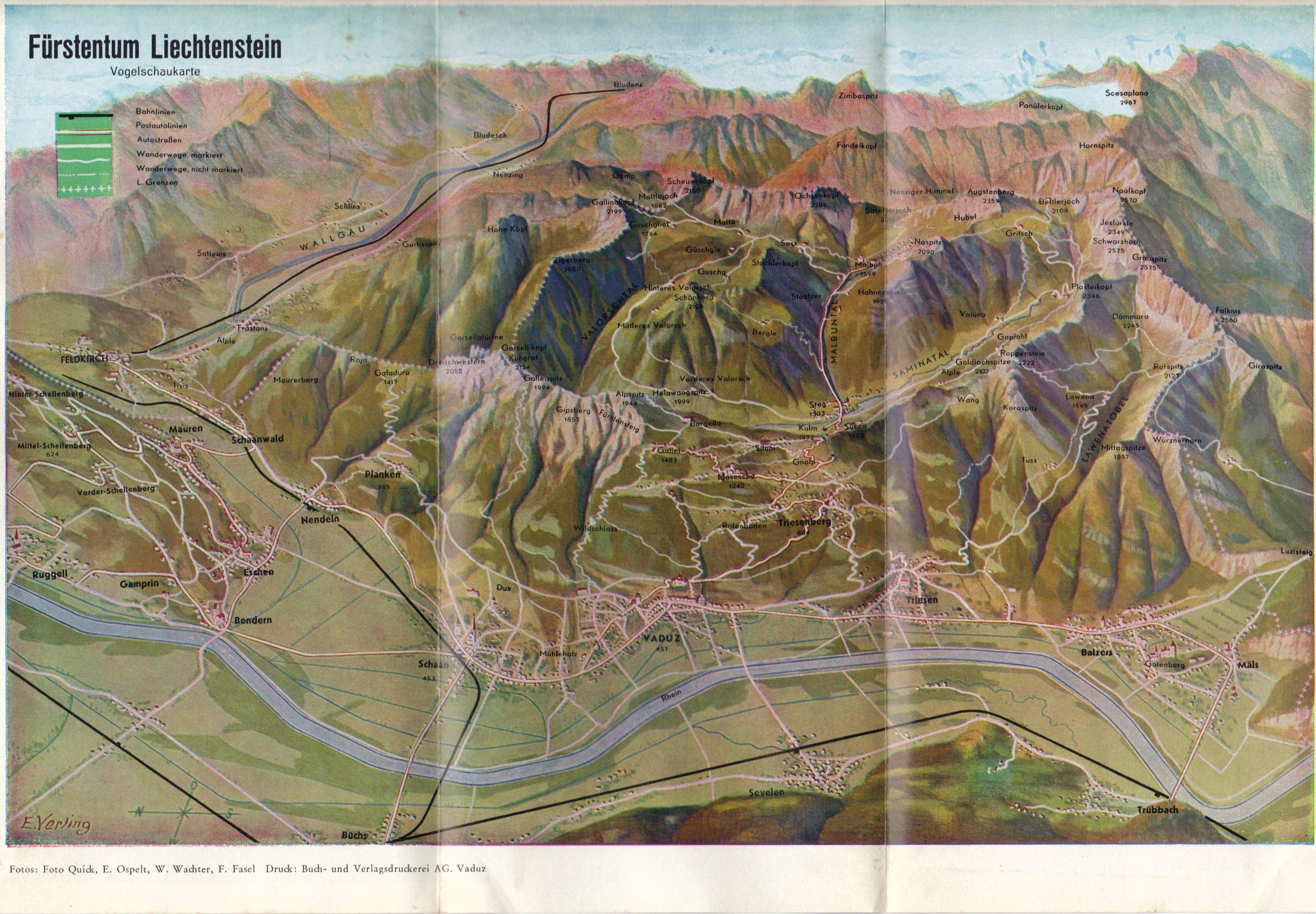 Honeymoon - map Lichtchenstein - June 1966