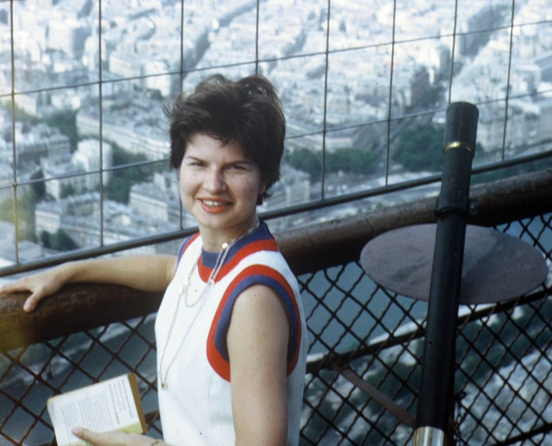 Joan on Eiffel Tower